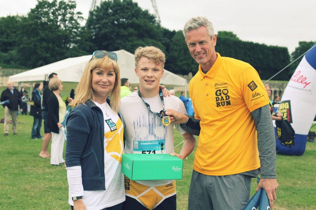 Mark Foster swimmer Siân Lloyd and the winner at Go Dad Run