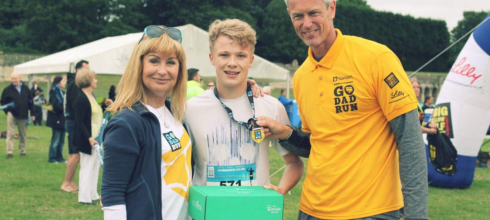 Mark Foster swimmer Siân Lloyd and the winner at Go Dad Run