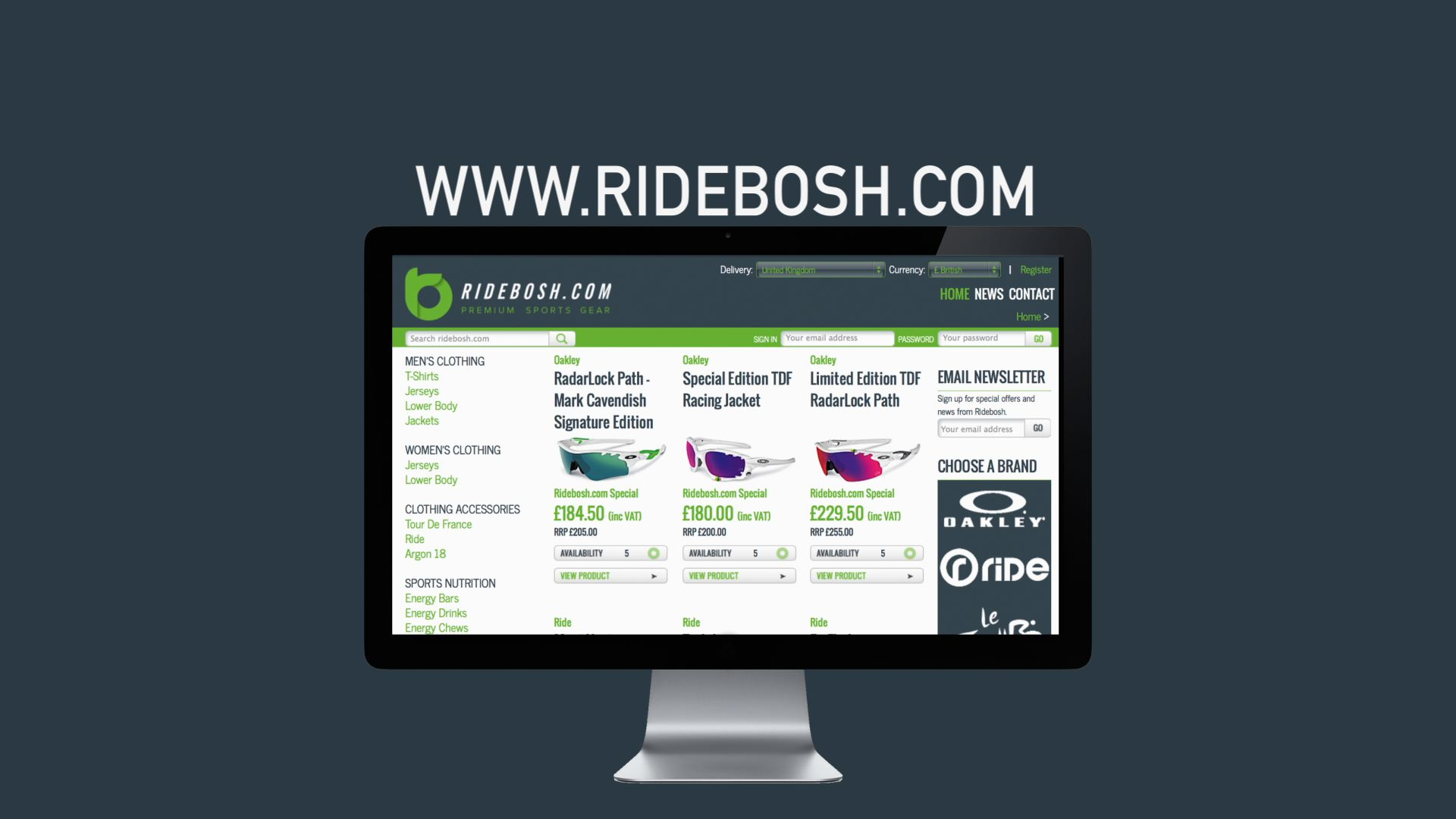 RideBosh TV advert