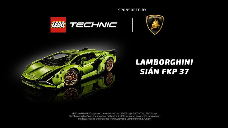 LEGO technic Lamborghini sián fkp 37 and Porsche 911 rsr Sponsorship idents
